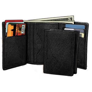 Men's Bison Tri Fold Wallet