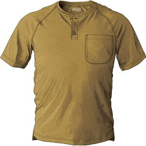 Men's CoolMax Short Sleeve Henley with Pocket
