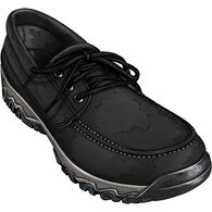 Men's Wild Boar Leather Oxford BLACK 8  MED