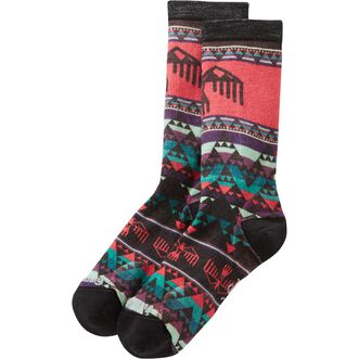 Women's Smartwool Printed Crew Sock BLACK MULTI ME