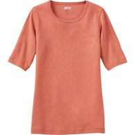 Women's Plus Longtail T Elbow Sleeve Scoop Neck CY