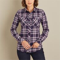 Women's Crosscut Wicking Flannel Shirt DQMPLAD XLG