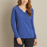 Women's Dry and Mighty Long Sleeve V-Neck Henley C