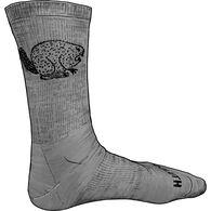 Men's Lightweight Merino Wool Angry Beaver Socks L