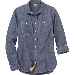 Women's Free Range Organic Chambray Long Sleeve Shirt