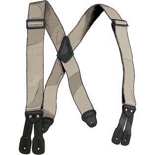 Men's Duluth Trading Button Suspenders STONE