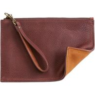 Women's Lifetime Leather Zip Pouch Wallet TTBROWN