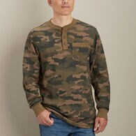 Men's Burly Thermal Pattern Henley Shirt