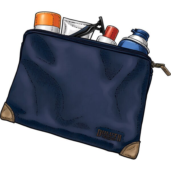Fire Hose Small Parts Bag - Large DRKBLUE