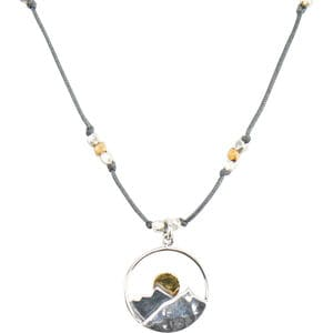 Bronwen Landscape Mountain Necklace