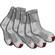 Men's Everyday 6-Pack Work Socks GRAY MED