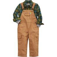 Kids Fire Hose DuluthFlex Bib Overalls BROWN 4T
