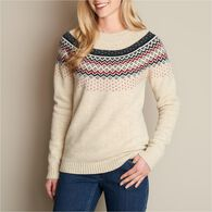 Women's Fisherman's Cable Crew - Holiday  IVORY L