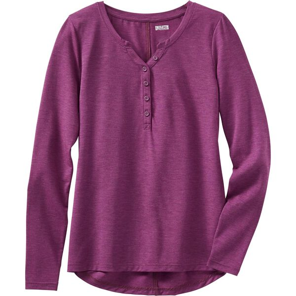 Women's Plus Dry and Mighty V-Neck Henley