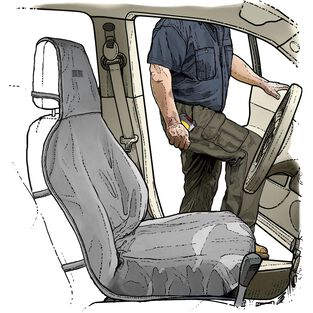 Fire Hose Bucket Seat Cover GRAY