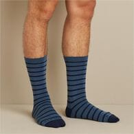 Men's Lightweight Merino Wool Stripe Dress Socks D
