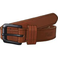 Men's Lifetime Leather Black Buckle Belt COGNAC 04