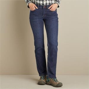 Women's Daily Denim Lined Straight Leg Jeans