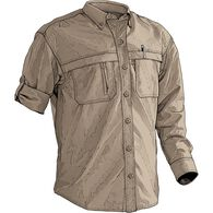 Men's CoolPlus Action Long Sleeve Shirt STONE SMAL