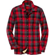 Women's Plus Free Swingin' Flannel Shirt CREBLHK 2