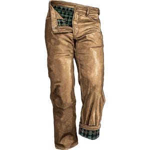 Men's Fire Hose Flannel-Lined Relaxed Fit 5-Pocket Pants