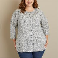 Women's Plus Free Range Cotton 3/4 Sleeve Tunic BT