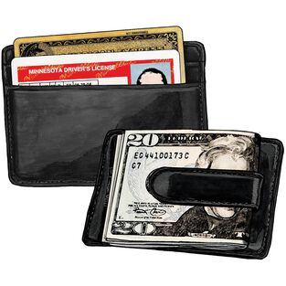 Working Man's Leather Money Clip BLACK
