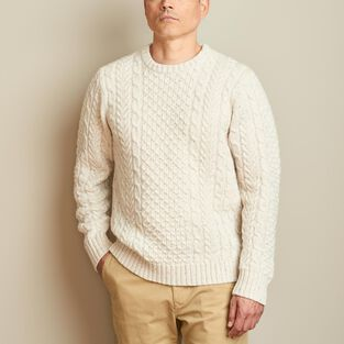 fa8515dbe7e6 Men s Shetland Wool Cable Sweater