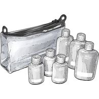 Sea to Summit 1 Quart Pouch Set CLEAR