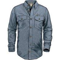 Men's Chambray Trim Fit Long Sleeve Shirt LGTCHAM