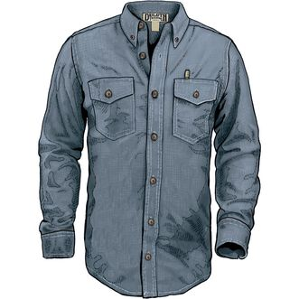 Men's Free Swingin' Chambray Trim Fit Long Sleeve Shirt