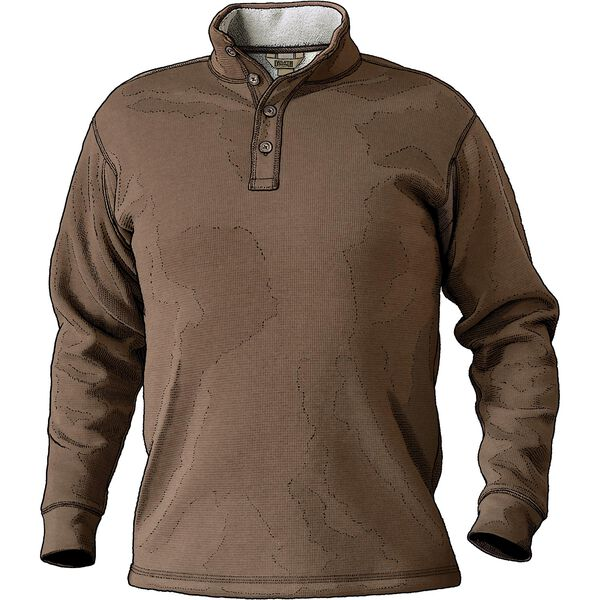 Men's Burly Thermal Sherpa-Lined Mock Shirt