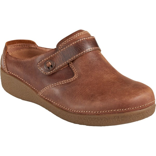 Women's Andina Leather Mule Shoes BROWN 9.5 MED