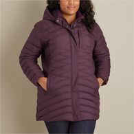 Women's Plus Cold Faithful Down Hooded Parka BLACK