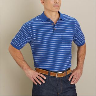 71cbab3c Men's No Polo Short Sleeve Stripe Shirt with Pocket | Duluth Trading ...