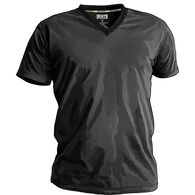 Men's Free Range Cotton V-Neck Undershirt BLACK SM
