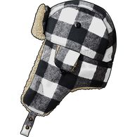Men's Trapper Hat BKWHCHK MED