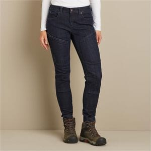 Women's Double Flex Double-Chapped Skinny Work Jeans