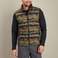 Men's AKHG Eco Puffin Print Mock Vest