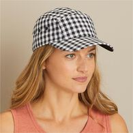 Women's Gingham Ball Cap BLUGNAM L/XL