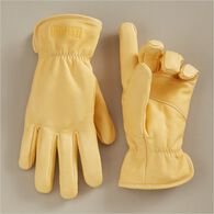 Men's Fence Mender's Kevlar Work Gloves STRAW LRG
