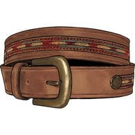 Men's Ranchero Western Belt BROWN 034