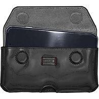 Leather Cell Phone Holster BLACK XLG