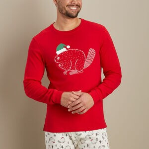 Men's Holiday Pattern Sleep Tee