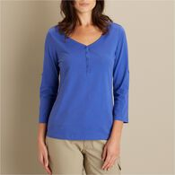 Women's Longtail Lightweight 3/4 Sleeve Henley BLU