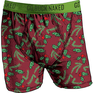 Men's Buck Naked Performance Pattern Boxer Briefs