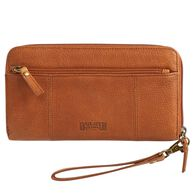 Women's Lifetime Leather Large Zip Wallet COGNAC
