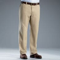 Men's Middle Management Flat Front Chinos DESKHA 0