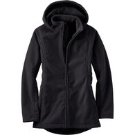 Women's Shoreline Fleece Windproof Coat BLACK XSM