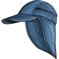 Men's Armachillo Baseball Cap with Sun Cape OCEANB